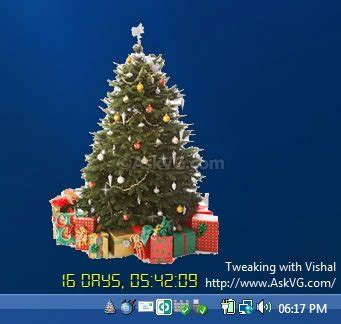 freeware to show christmas tree on your windows desktop