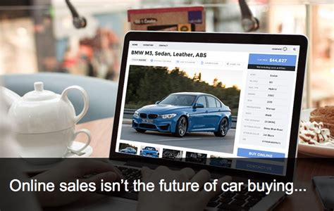 vehicle sales isnt  future  car buyingi