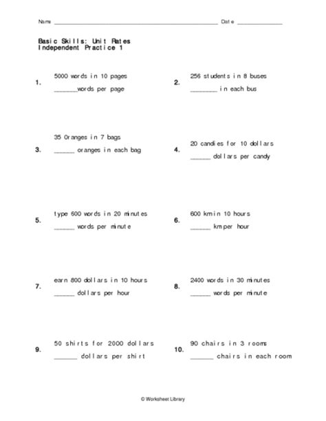 printable math worksheets unit rate printables unit rate worksheet agariohi worksheets