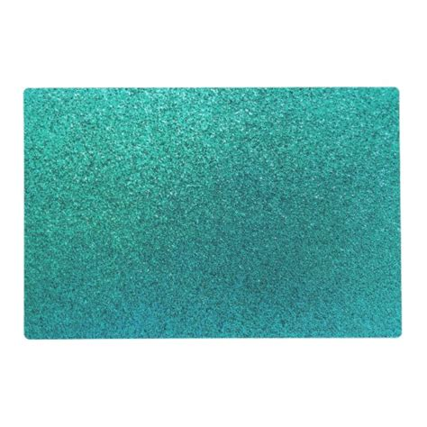 Turquoise Place Mats by Faux Aqua Teal Turquoise Blue Glitter Background S