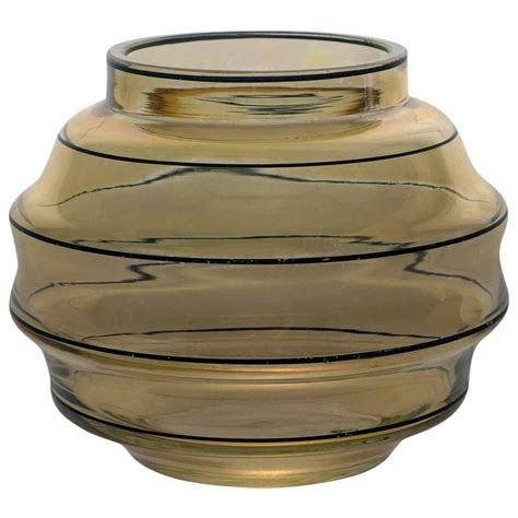 deco glass vase for sale at 1stdibs
