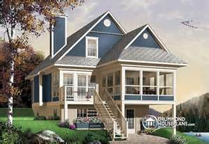 Lakefront Cottage Plans House Plan W4916a Detail From Drummondhouseplans