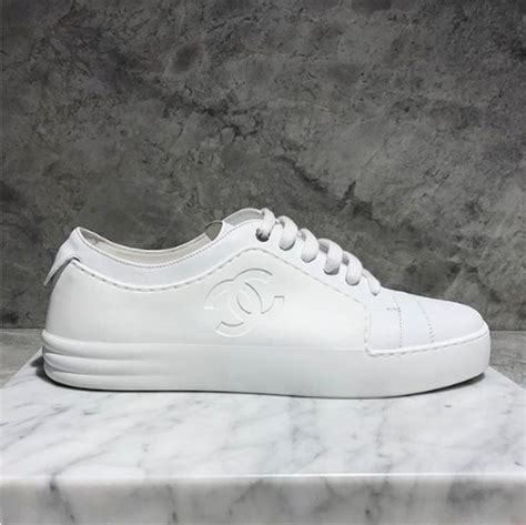 white chanel sneakers chanel sneakers from cruise and summer 2017