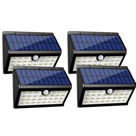 solar wall light with motion sensor innogear solar lights 30 led wall light outdoor security