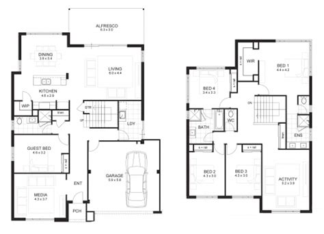 floor plan of residential house marvelous 2 storey residential house floor plans house of