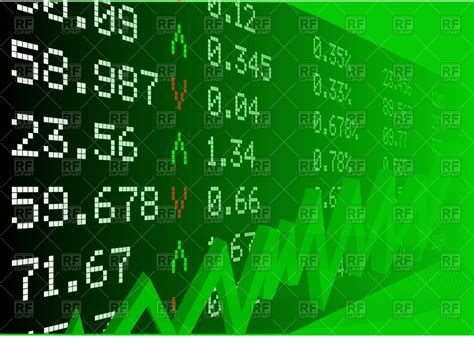 stock clipart stock market with numbers and green graph vector image