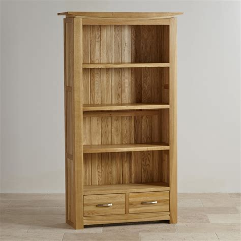 tall oak bookcase with drawers tokyo natural solid oak bookcase living room furniture