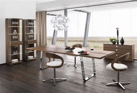 modern dining room table home design inside