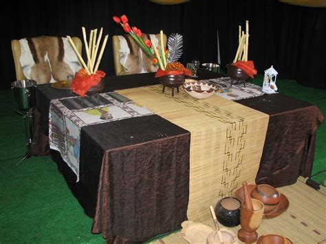 African wedding main table   traditional decor