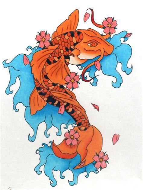 koi fish tattoo with image japanese tattoos fish koi design