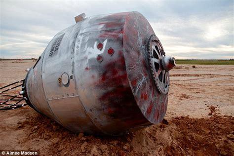 Capsule Herms roadside space capsule found at side of arizona interstate