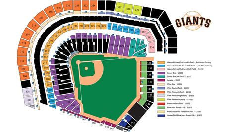 at t park seating map giants season tickets san francisco giants