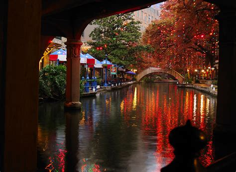 river walk christmas lights photograph by iris greenwell