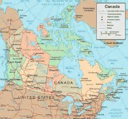 canada map vacation idea