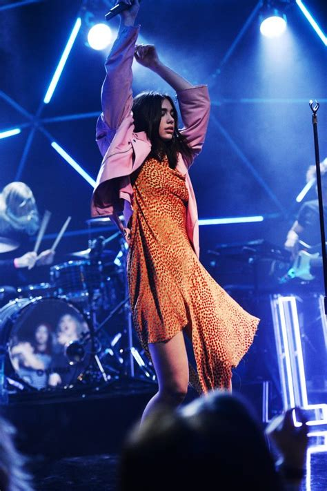 dua lipa on stage dua lipa kicks off brand new music show mtv live stage as