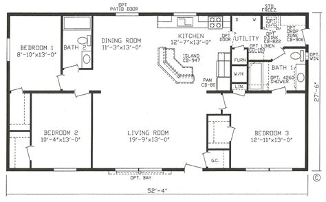 3 bedroom home floor plans mobile home blueprints 3 bedrooms single wide 71