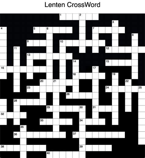 the themes crossword clue lenten theme crossword puzzle