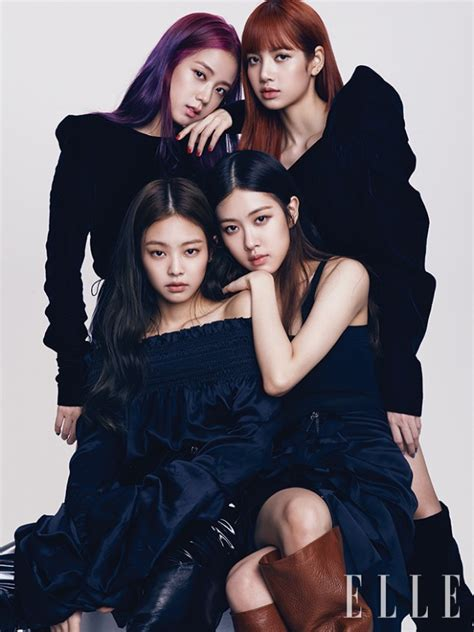 blackpink elle magazine black pink look gorgeous in elle korea pictorial
