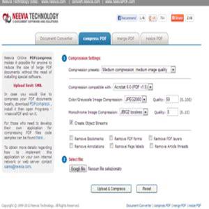 compress pdf neevia come comprimere pdf online internet senza limiti