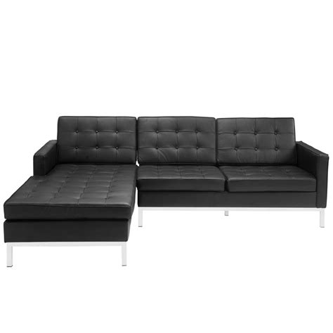 Left Sectional Sofa Bateman Leather Left Arm Sectional Sofa Modern Furniture Brickell Collection
