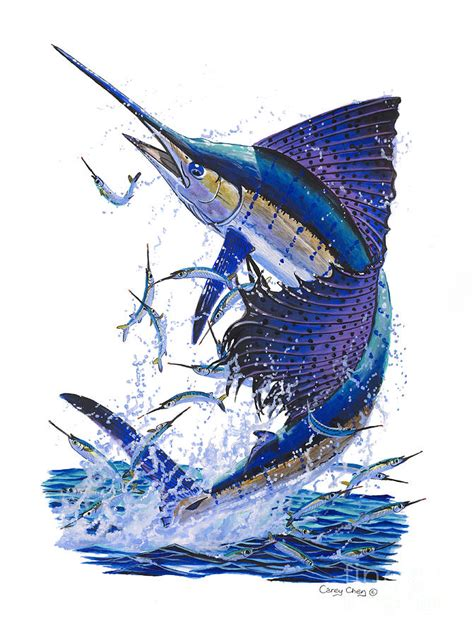 sailfish painting by carey chen