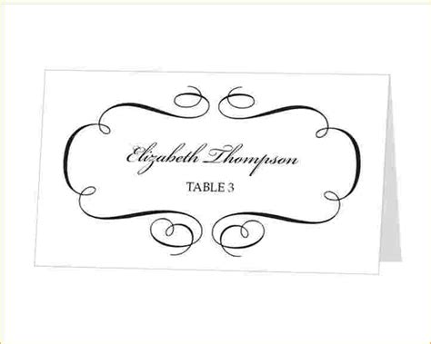Name Card Template Wedding Tables by Place Cards Template Word Beautiful Template