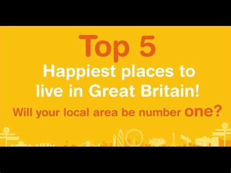 happiest places to live in the us top five happiest places to live in great britain youtube