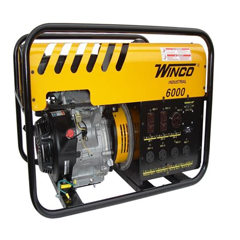 winco generators wc6000he industrial portable generators