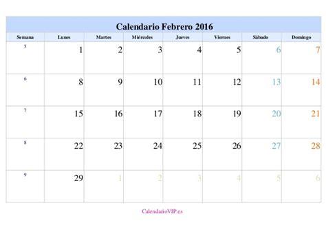 Calendario Febrero 2016 Calendario Escolar Anual 15 16 Y Mensuales