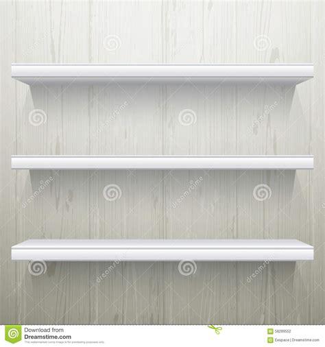 white wood background shelves stock vector image 58289552