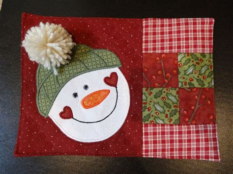 snowman mug rug pattern pin by h on pot holders placemats table runners