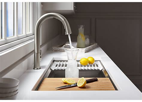 sensate touchless kitchen sink faucet with kohler konnect