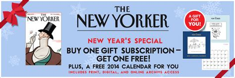 1 Year New Yorker Subscription - new yorker gift subscription