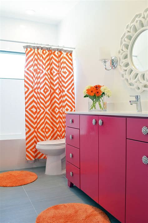 pink and orange bathroom sets 25 bathrooms that beat the winter blues with a splash of color