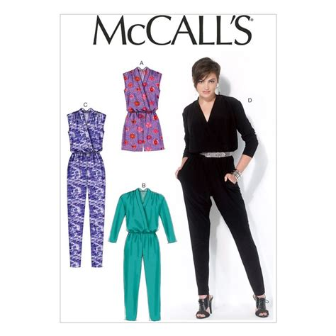 Jumpsuit Motif 14 mccall pattern m7099 14 16 18 2 mccall pattern sewing sewing patterns and sew