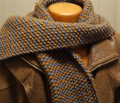 one row knit scarf pattern easy two color one row anyone scarf by mkaryl design