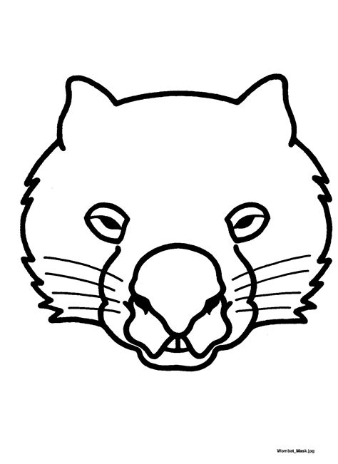 printable possum mask template these diy masks are a great way to involve kids in the