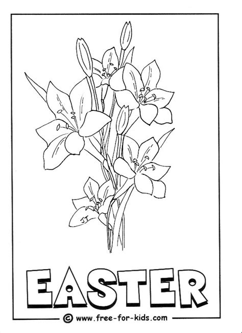 coloring pages of easter lilies inkspired musings easter lilies