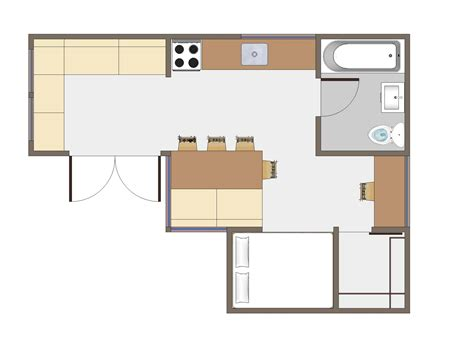 bedroom and kitchen attractive simple small houses plans layout with single