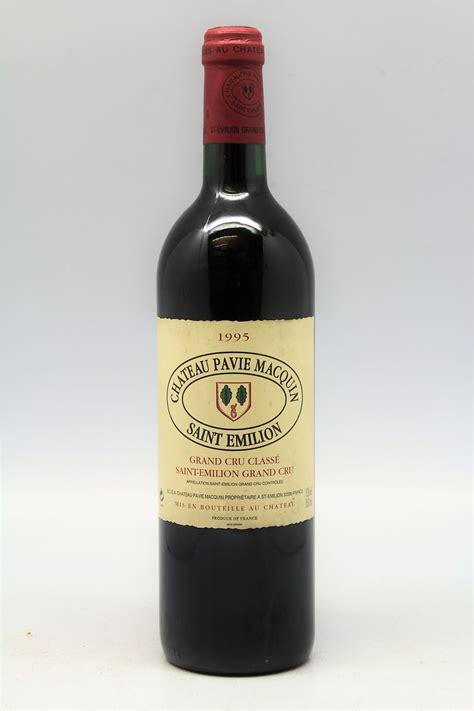 pavie macquin pavie macquin 1995 vins millesimes