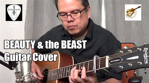 beauty and the beast acoustic mp3 download beauty and the beast fingerstyle cover on epiphone