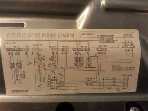 samsung electric dryer wiring diagram kenmore dryer