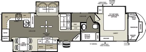 rear kitchen rv floor plans 2015 luxury fifth wheel 375rks rear kitchen ebay