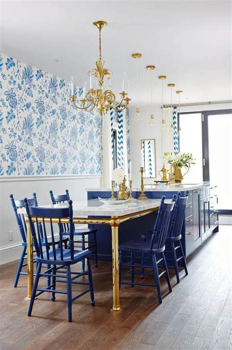 blue and gold l richardson s royal blue gold and white kitchen