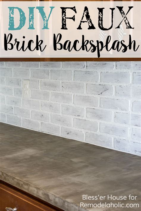 How To Paint Kitchen Cabinets Youtube remodelaholic diy whitewashed faux brick backsplash