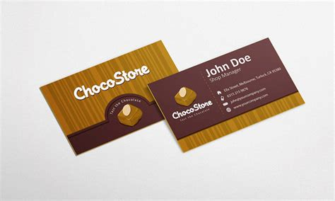 chocolate business card templates free chocolate business card design template by