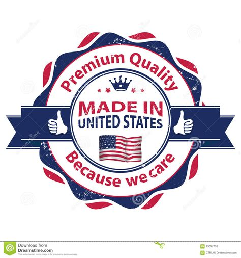 Kingbang Made In Usa Original made in usa premium quality because we care stock photo image of banner 83097716