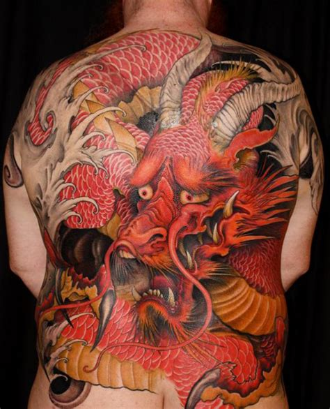 guilty red dragon full back japanese tattoo best tattoo