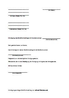 Kündigung O2 Vertrag Brief Wie Meinen Alten Handyvertrag K 252 Ndigen