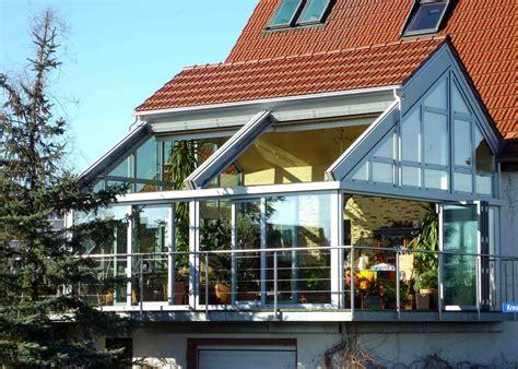 veranda reihenhaus wintergarten mit glas schiebedach wintergarten